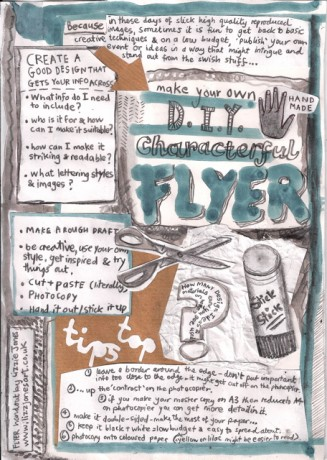 how to make your own DIY characterful flyer