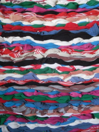 rug with woven t shirts